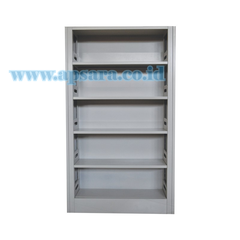 Shelving 5 Shelf Steel 1 Side Backplate Bundling  (Paket Rak 1 Muka Backplate + 5 Standar Buku)